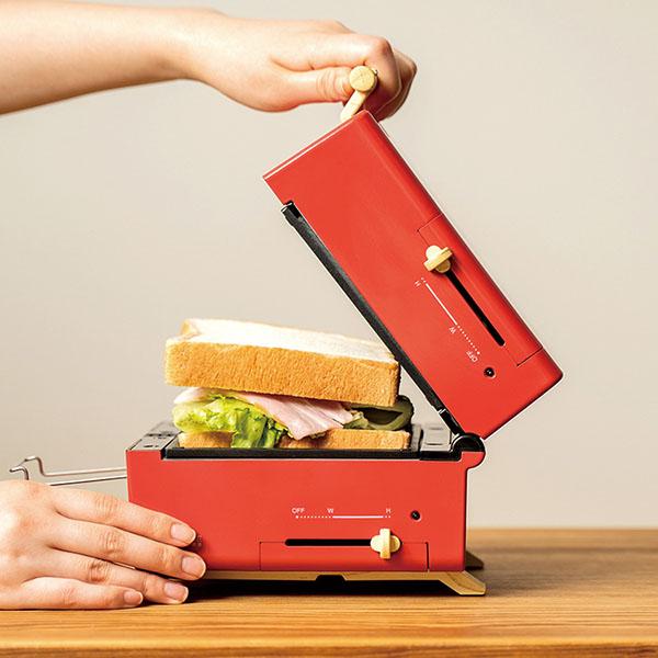 画像: ホットサンド、肉厚ステーキ、たこ焼きなど幅広いグリル料理が楽しめる調理アイテム