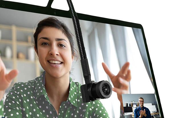 画像1: 相手の目を見ながらしっかりと話せる!わずか1.5センチの超小型ウェブカメラ
