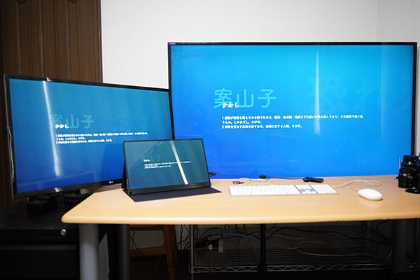 画像: 3枚目のモニターとして、USB-CでMac miniに接続してみました。