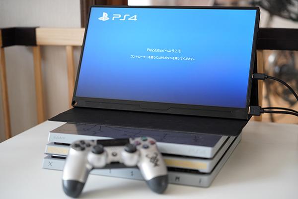 画像: PS4の上に「EVICIV EVC-1506」乗せて、そのままゲームも可能。