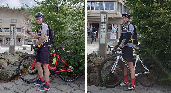 画像: トータルタイムでは、e-bikeは1時間29分、ロードバイクは2時間5分。