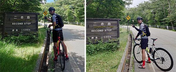 画像: 相変わらずe-bike(左)は、涼しげな表情だ(わかりにくいが)。(e-bikeは13分、ロードバイクは14分)