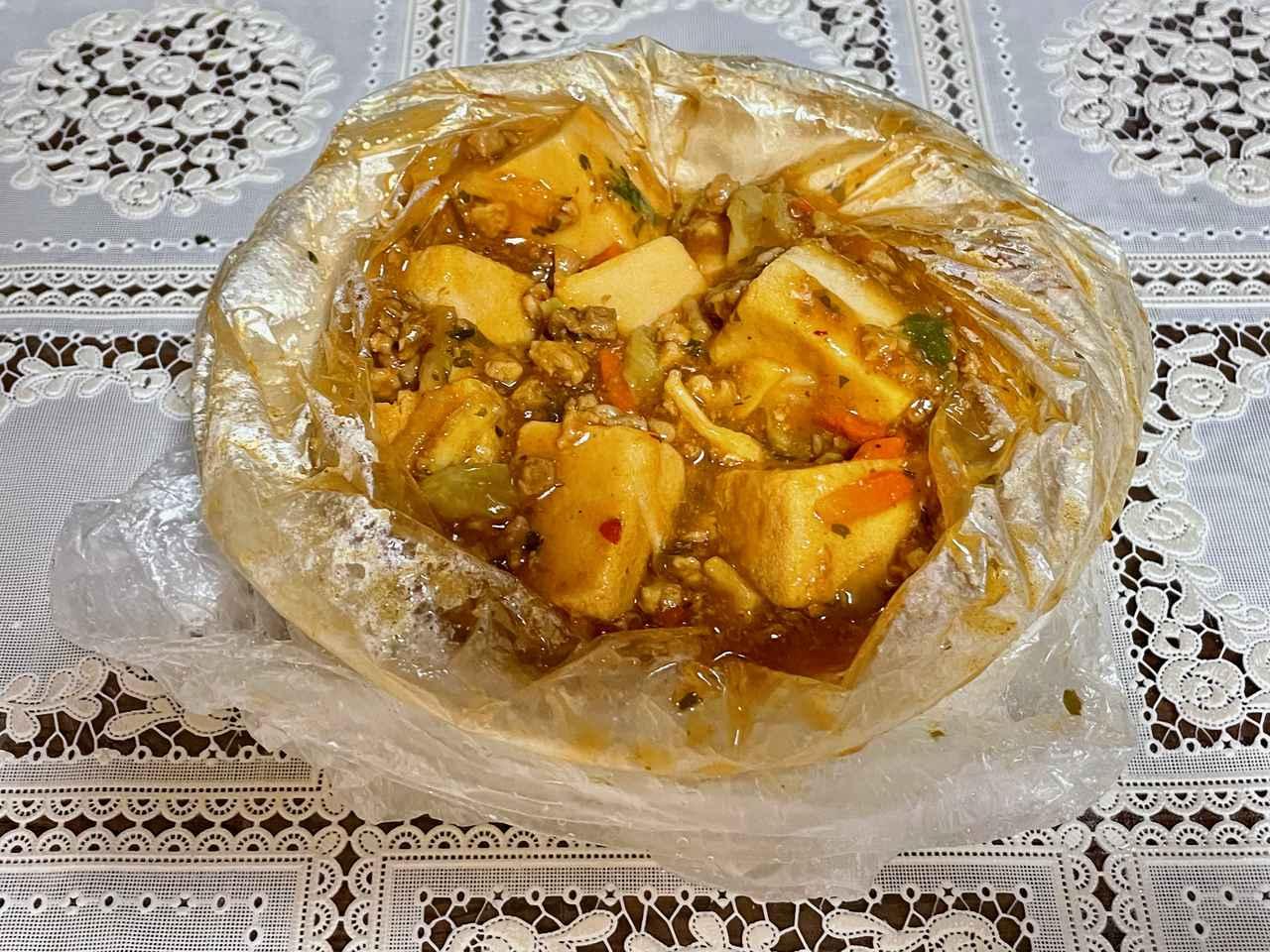 画像: 麻婆豆腐の調味液を使うと味が濃いめに仕上がるので、好みで量を加減してください。