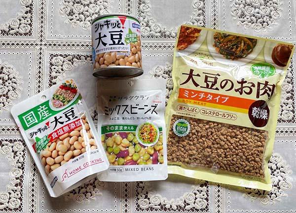 画像: ほかにも、きな粉、乾燥おから、乾燥納豆、味噌、醤油など・・・日本は豆加工品が豊富なことを改めて実感。