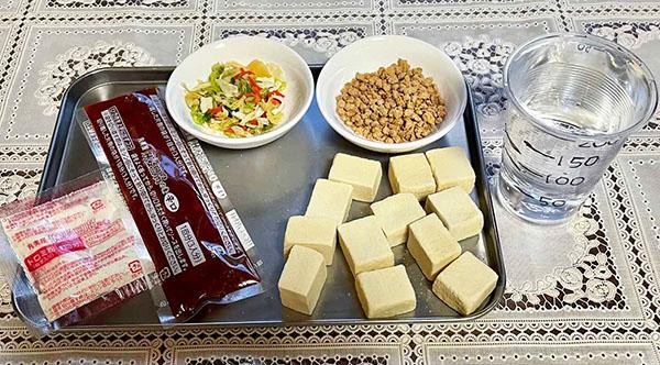 画像: 高野豆腐は水分を含むとボリュームアップします。入れすぎ注意!