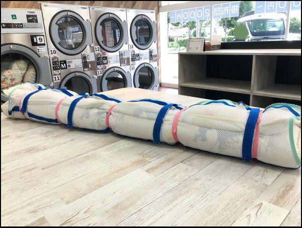 画像: 布団をどうやって洗濯するのか見せてもらいました