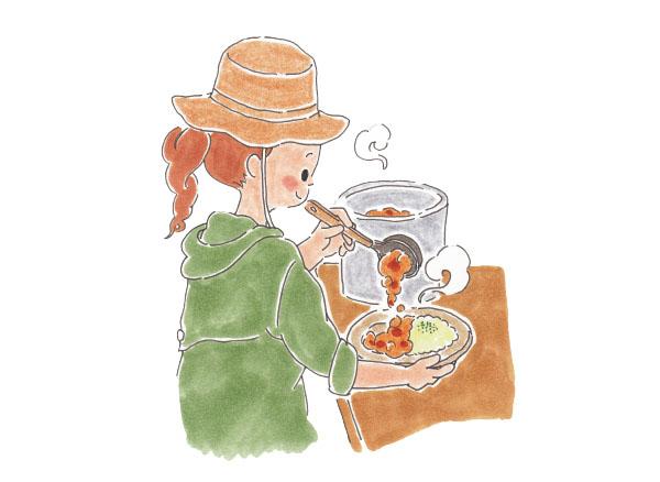 画像: 外だとなお美味!本格スパイスカレーを作る