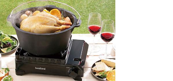 画像2: 大きめの調理器具が載せられるシングルバーナーがあると便利!