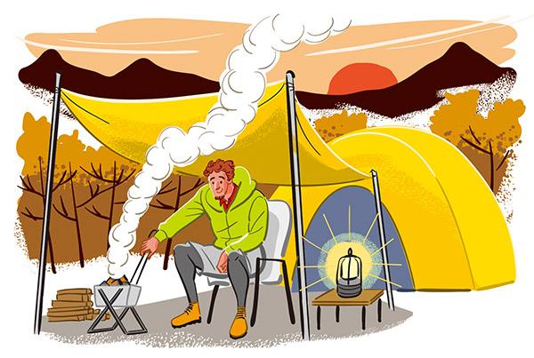 画像: ソロキャンプ
