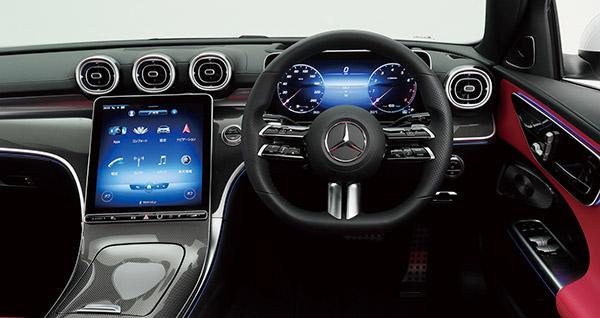画像: ダッシュボードには縦型11.9型ディスプレイをドライバー側に傾けた新デザインを採用。ARナビや生体認証によるシートポジション設定など先進機能も搭載。