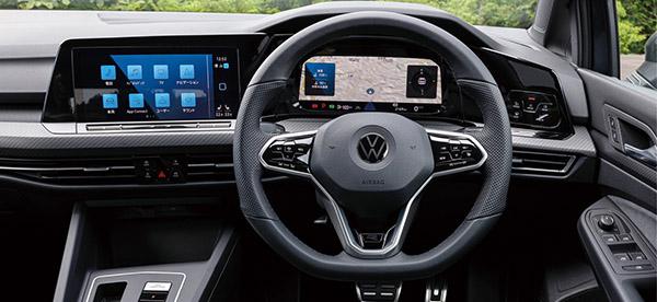 画像: デジタル化を象徴するのがデジタルコックピットで、10.25型ディスプレイのメーターと10型のセンターモニターを組み合わせる。タッチ操作によるコントロールが進んだ。