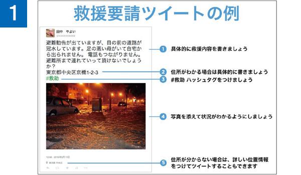 画像1: 【ツイッター】災害時の救助要請を行う方法を把握しておこう