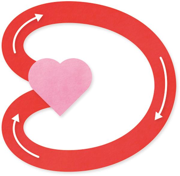 画像: 血液は心臓のポンプ機能で体内を循環。