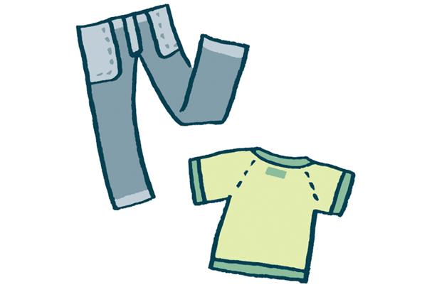 画像: 色もの、柄もの衣類は、色あせを防ぐため、洗濯機に入れる前に裏返します。干すときも裏返しのままで。