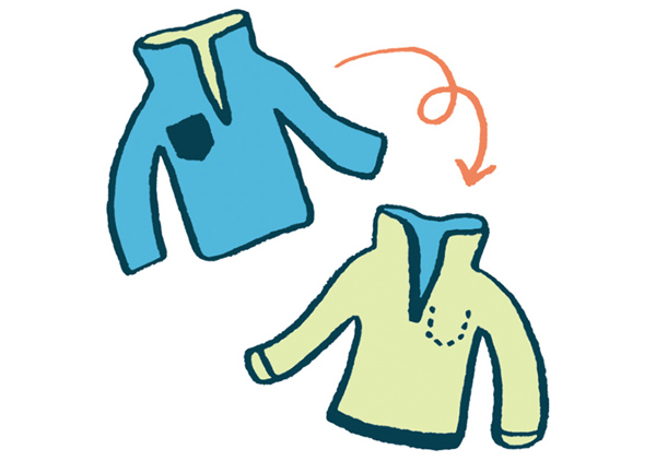 画像: 毛玉がついたり、毛羽立ちやすいフリースの衣類は、裏返してからネットに入れて洗いましょう。