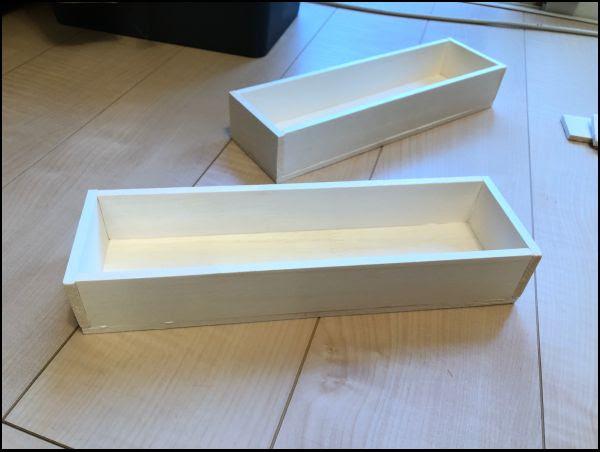 画像: あっという間に箱を完成させました