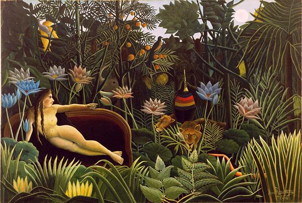 画像: アンリ・ルソー『夢』(1910年) www.artpedia.asia