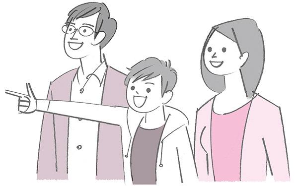 画像: 親の立ち位置は子どもの上でも正面でもなく、真横