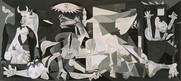 画像: パブロ・ピカソ「ゲルニカ」(1937年) www.artpedia.asia