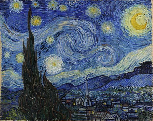 画像: フィンセント・ファン・ゴッホ「星月夜」(1889年) www.artpedia.asia