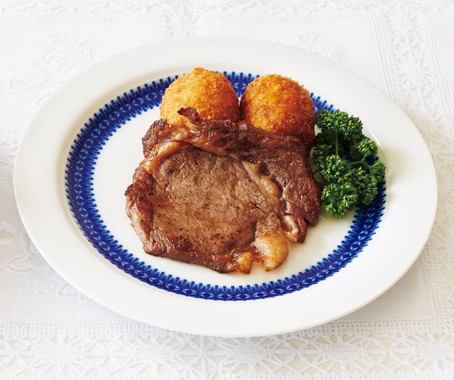 画像: ビフテキライスコロッケ A 家庭西洋料理全集より