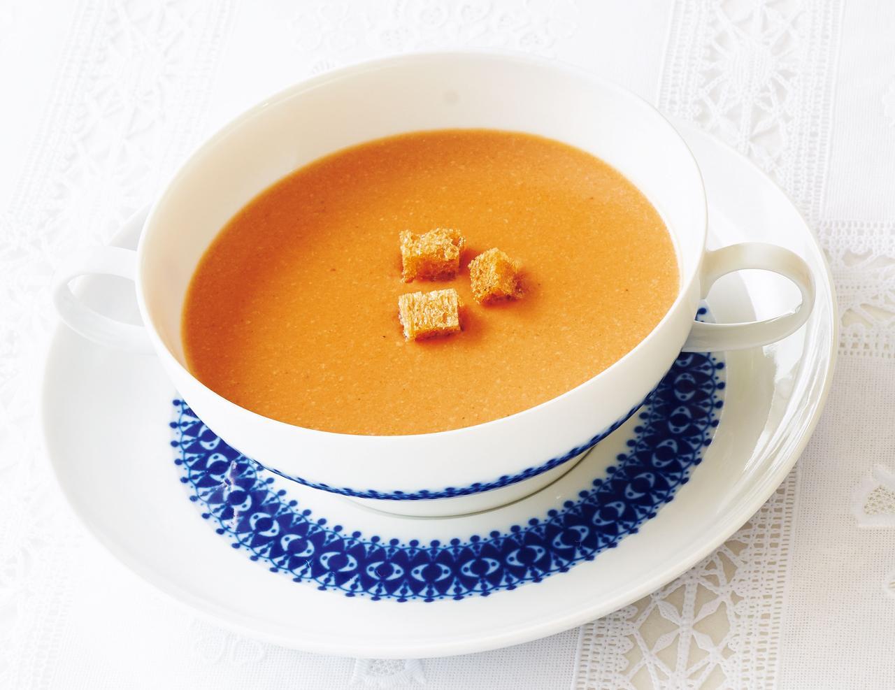 画像: トマトスープ A 家庭西洋料理全集より