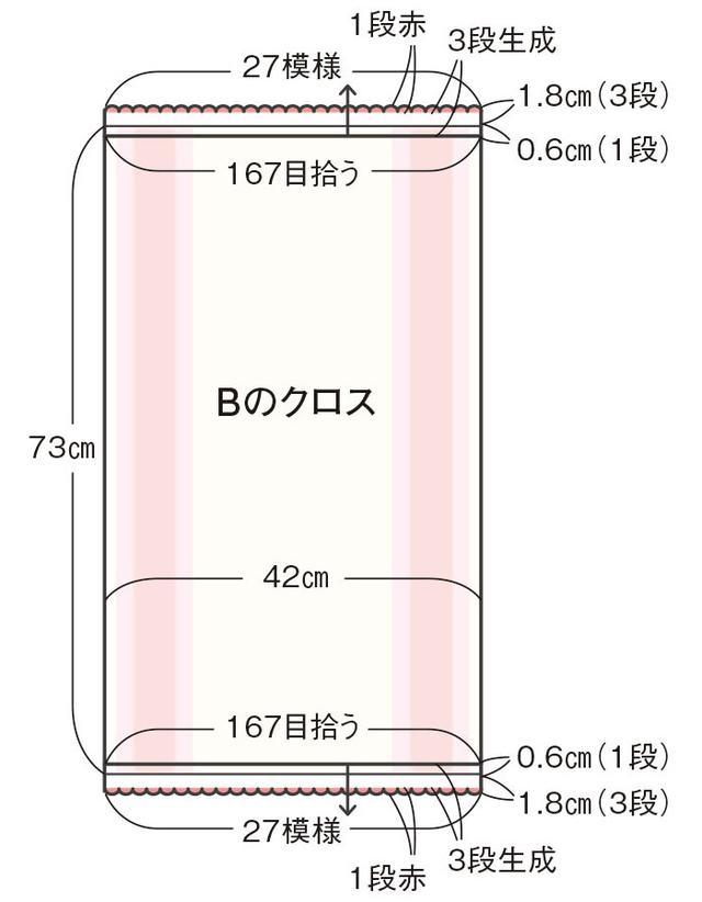 画像1: Bの編み方