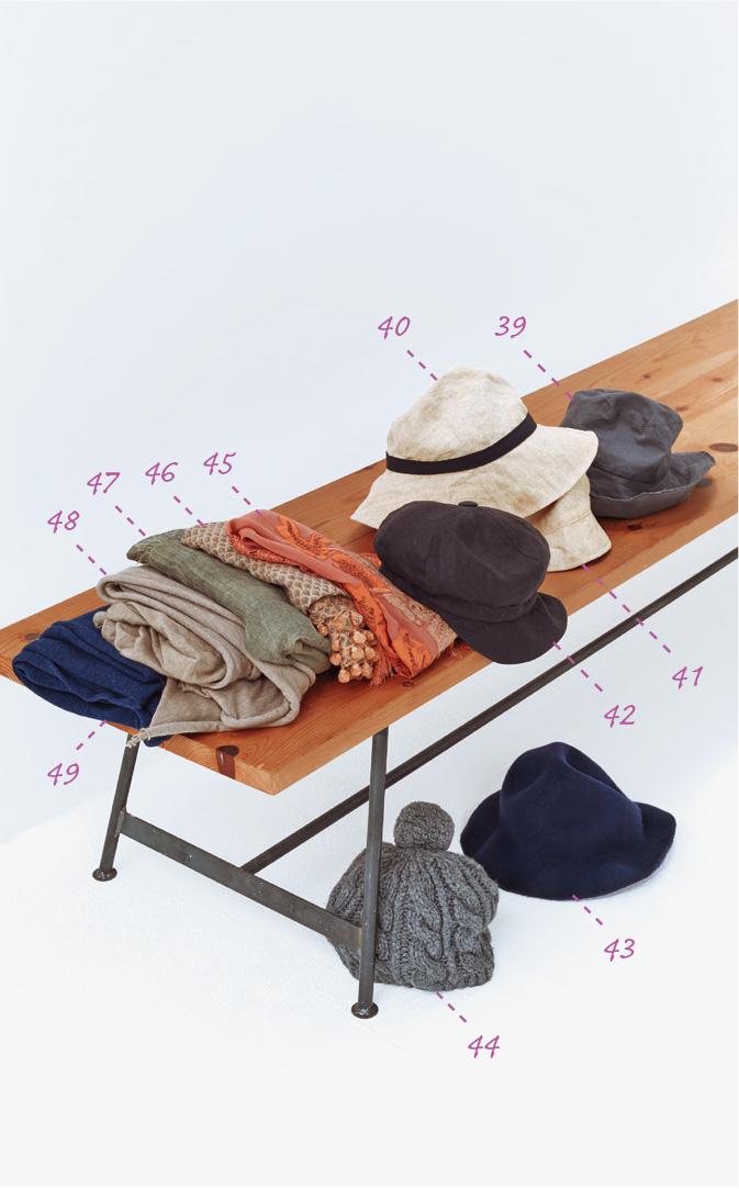 画像: 帽子とストール