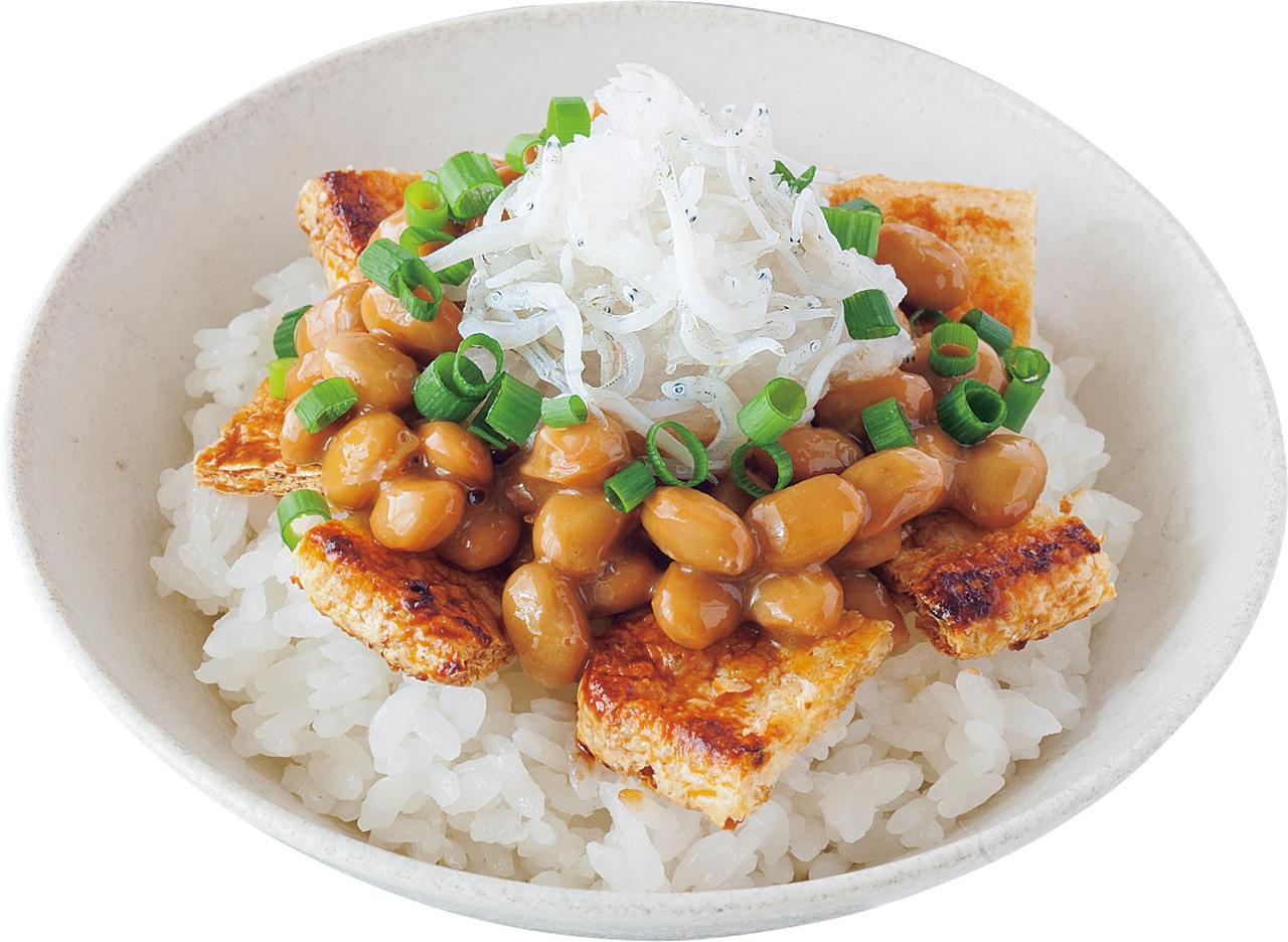 画像: おろししらす納豆丼