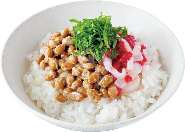 画像: 梅いか納豆丼