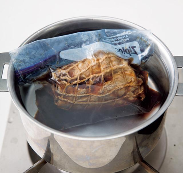 画像: 食べるときは、鍋に湯を沸かし、ポリ袋のまま入れて、湯せんで温め直すとよい