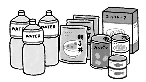 画像: 水と非常食、備える量は?