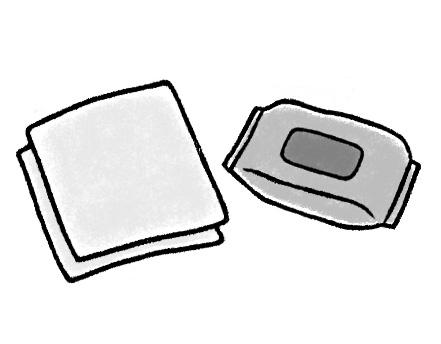 画像: 大判型のウエットタオル