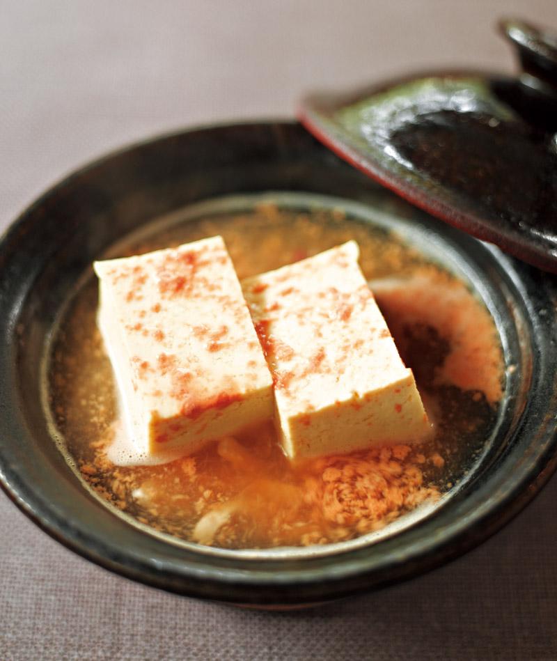 画像: 小鍋仕立て湯豆腐 いかの塩辛を使って