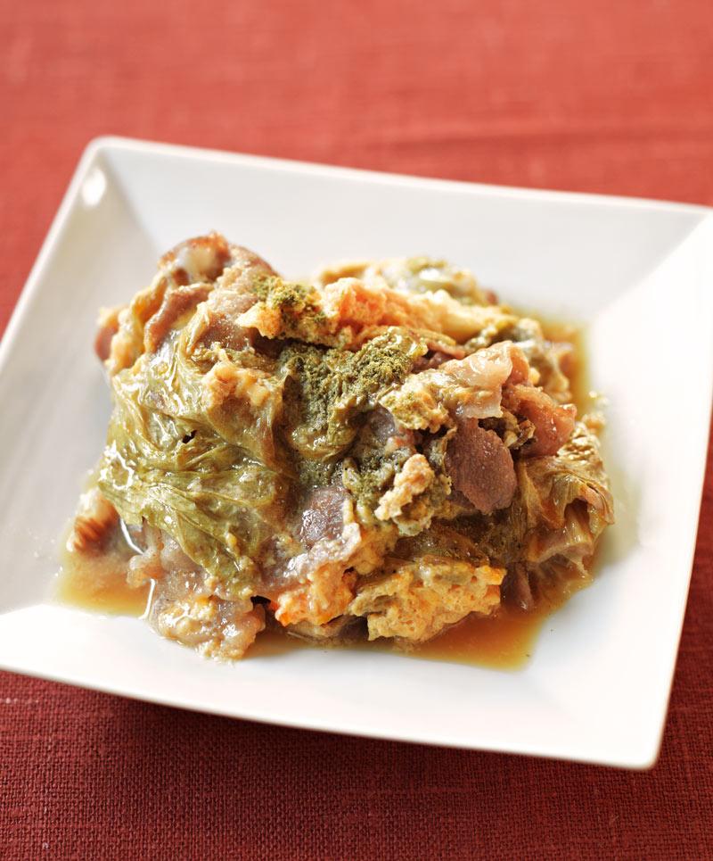 画像: 干し白菜と牛肉の煮もの