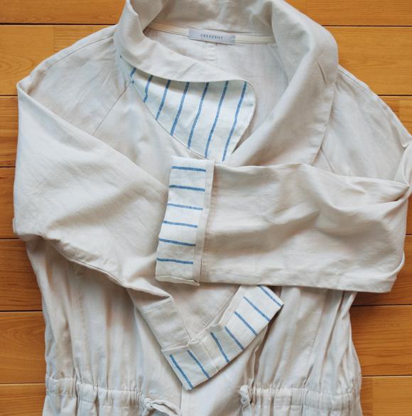 画像: 衿や袖を裏打ちする