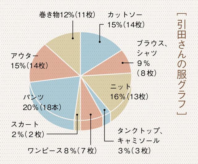 画像: [ 引田さんの服グラフ ]