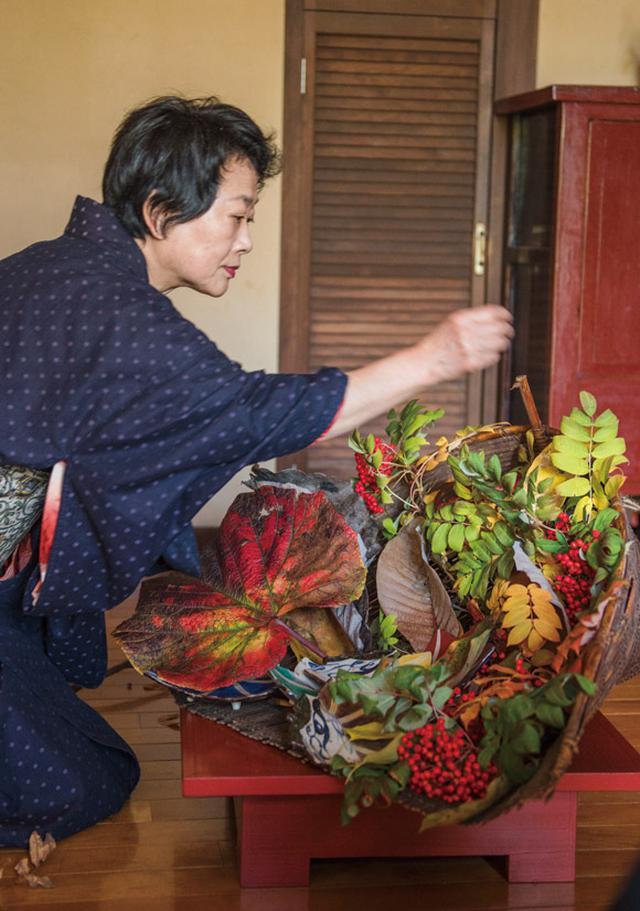 画像4: 「秋の庭」・横山タカ子 信州四季暮らし