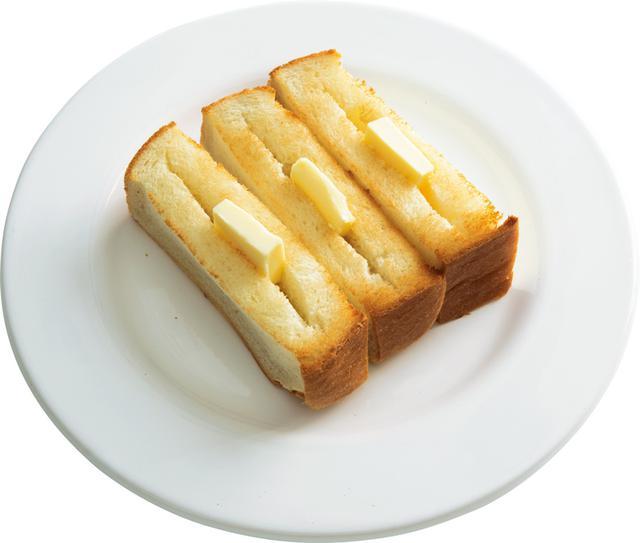 画像: 4枚切り食パンで のっけバタートースト