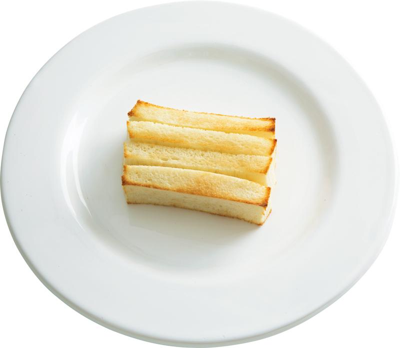 画像: 8枚切り食パンで ミルフィーユバタートースト