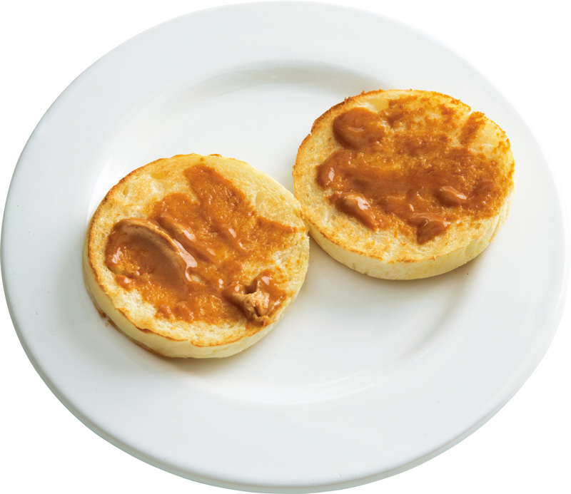 画像: イングリッシュマフィンで きなこバタートースト
