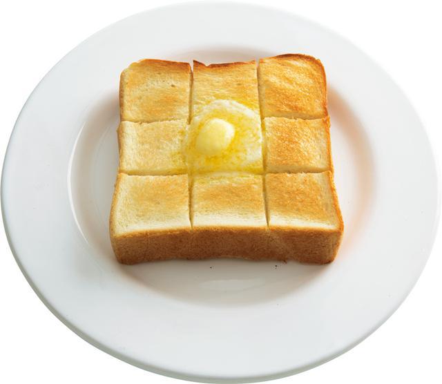 画像: 4枚切り食パンで 切り込みバタートースト