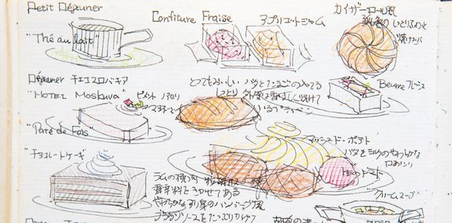 画像: ブラウンソースが印象的だったプラハ 「褐色の街」という印象だったチェコスロバキア。「当時は銃を持った兵隊が街を歩いていて、他国とは違う雰囲気でした」。料理は煮込み料理など、こってりした味のものが多かったそう。「デザートにはチョコレートケーキ(左下)がよく出てきました」