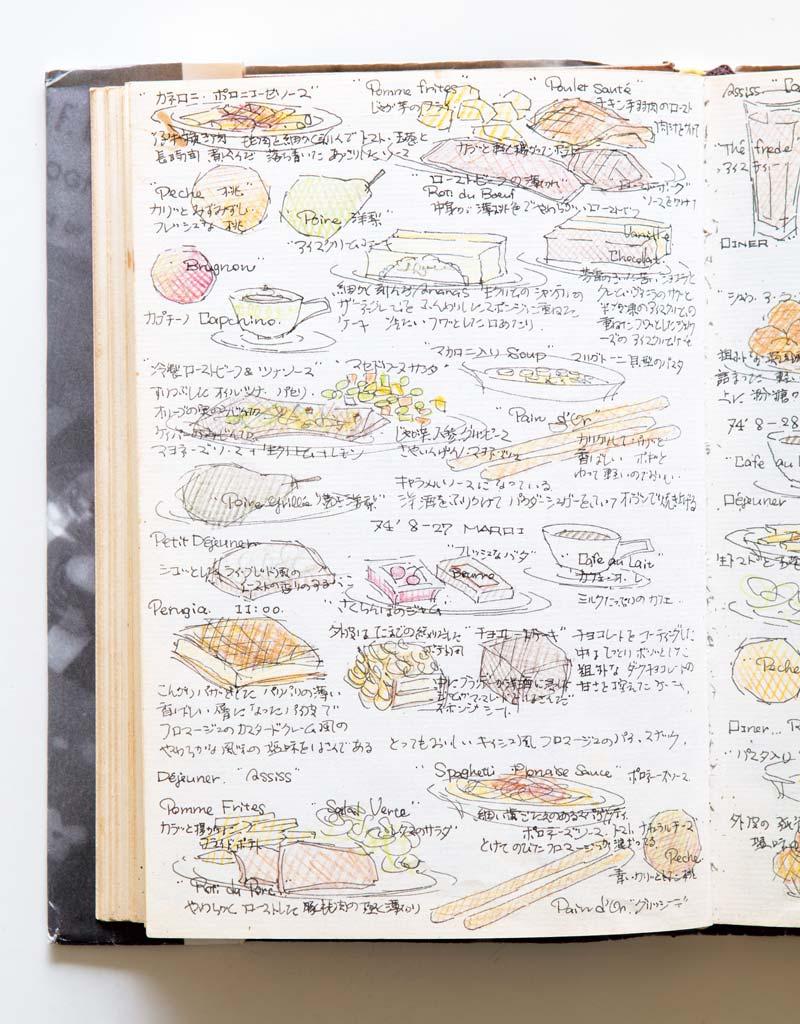 画像: イタリアで出合ったローストビーフ イタリアに入ると、フルーツの「マチェドニア」やアイスクリームなどを食べる機会が増え、友人と大喜び。「忘れられないのは、シエナやアッシジのレストランで食べた冷製ローストビーフとツナソース(左中央)。いまも、ときどき、つくります」