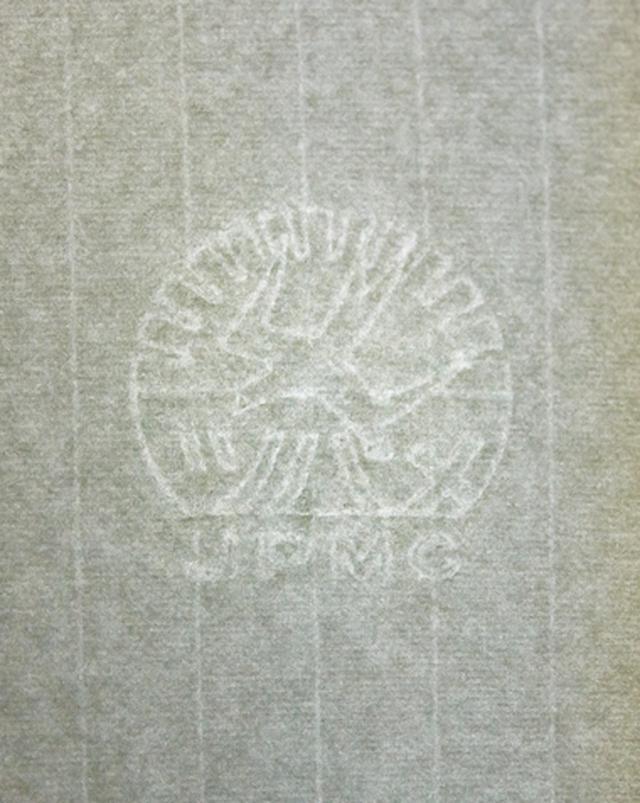 画像: フールス紙の証としてツバメの透かし模様が入った、開発当初の紙