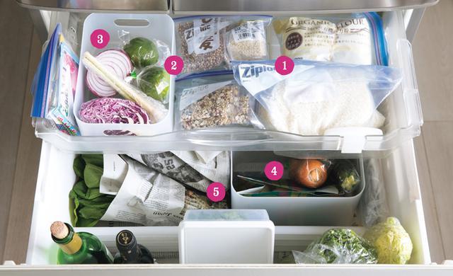 画像: 温度と湿度のバランスがよい野菜室には、米やワインも