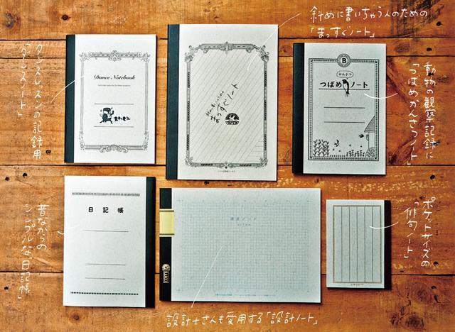 画像: 「まっすぐノート」は、斜めに文字を書いてしまう社員を見て得た着想。社交ダンスや俳句が趣味という、精二社長ならではの商品もある