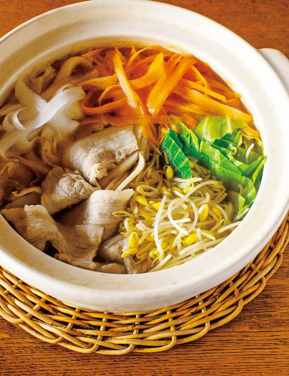 画像: 豚バラと野菜のあっさり鍋