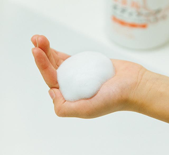 画像2: たっぷりの泡で、やさしく手のひら洗い