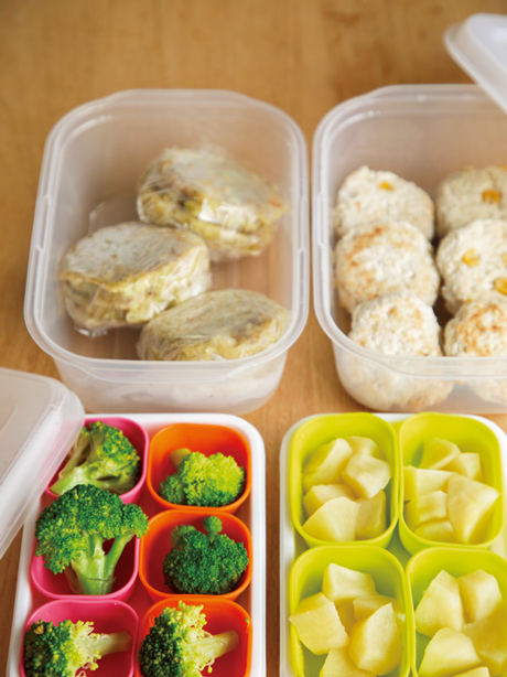 画像: 冷凍ストックする離乳食は、1食分ずつ小分けすると、残りの量が把握しやすい